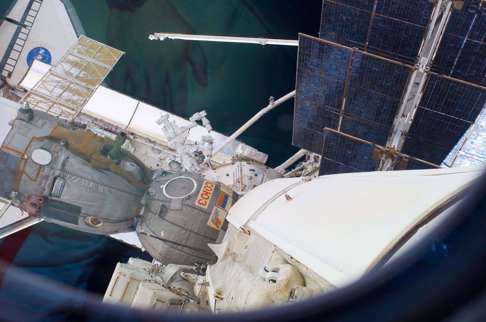 S123E008344 - STS-123 - Space Shuttle Endeavour and Dextre taken during Joint Operations