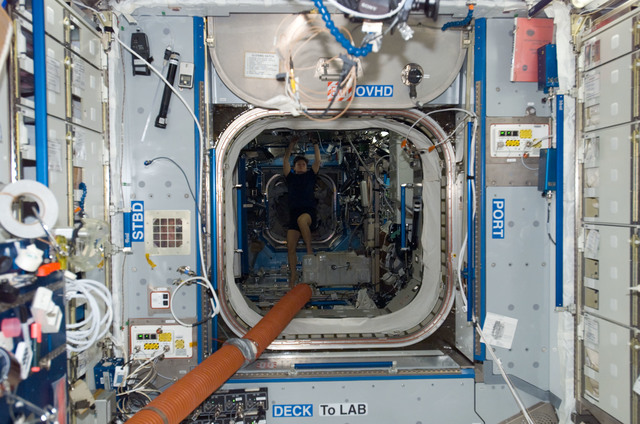 S123E008943 - STS-123 - Laptop computers in the Node 2 during Joint Operations