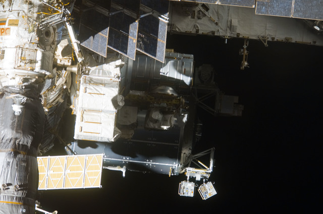 S123E009289 - STS-123 - Flyaround view of the ISS taken from STS-123 Space Shuttle Endeavor