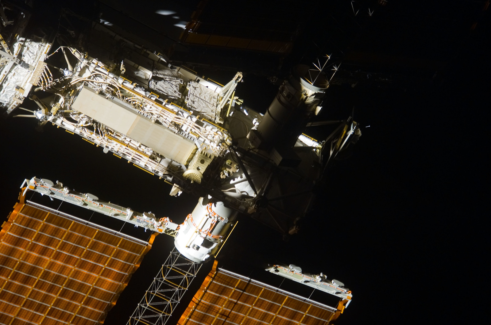 S123E009295 - STS-123 - Flyaround view of the ISS taken from STS-123 Space Shuttle Endeavor