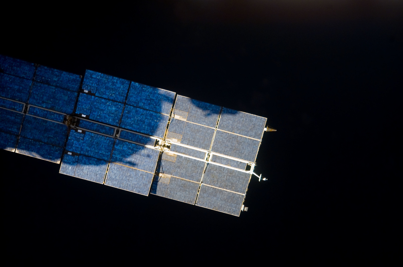 S123E009459 - STS-123 - Flyaround view of the ISS taken from STS-123 Space Shuttle Endeavor
