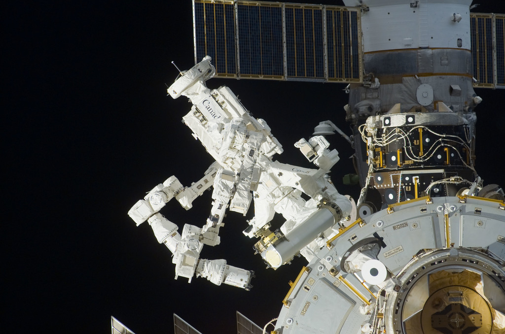 S123E009714 - STS-123 - Flyaround view of the ISS taken from STS-123 Space Shuttle Endeavor