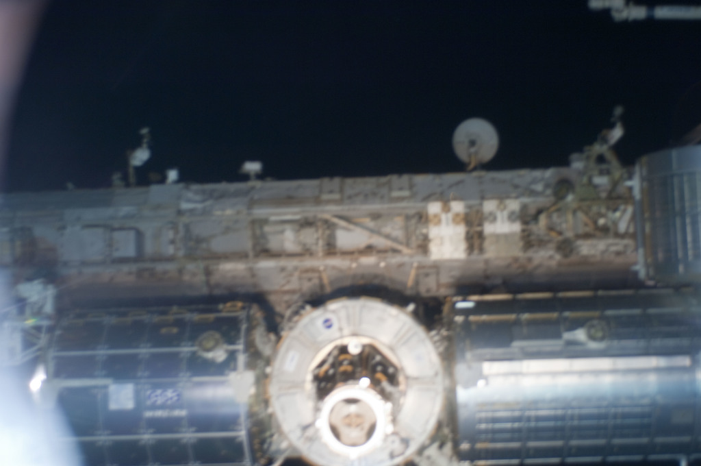 S124E009917 - STS-124 - PMA2 on Node 2 as seen during undocking and flyaround