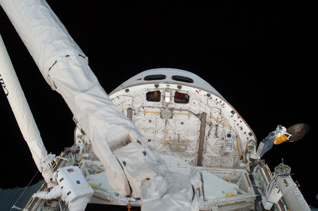 S125E007446 - STS-125 - View of the Shuttle Atlantis taken during EVA1