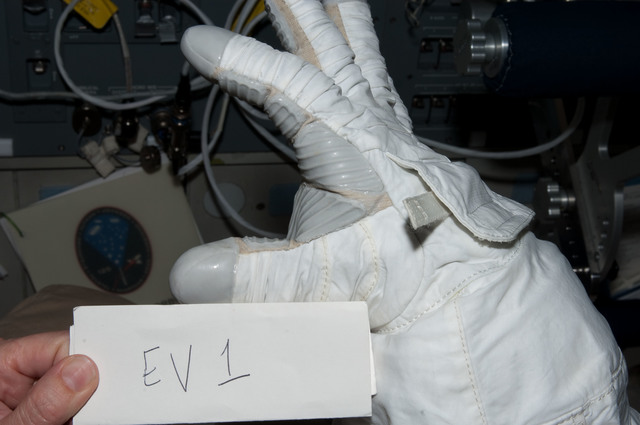 S125E008411 - STS-125 - Glove Inspection Images taken after EVA3