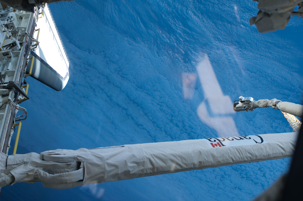 S127E006807 - STS-127 - S0 Truss during EVA-1 on STS-127 / Expedition 20 Joint Operations