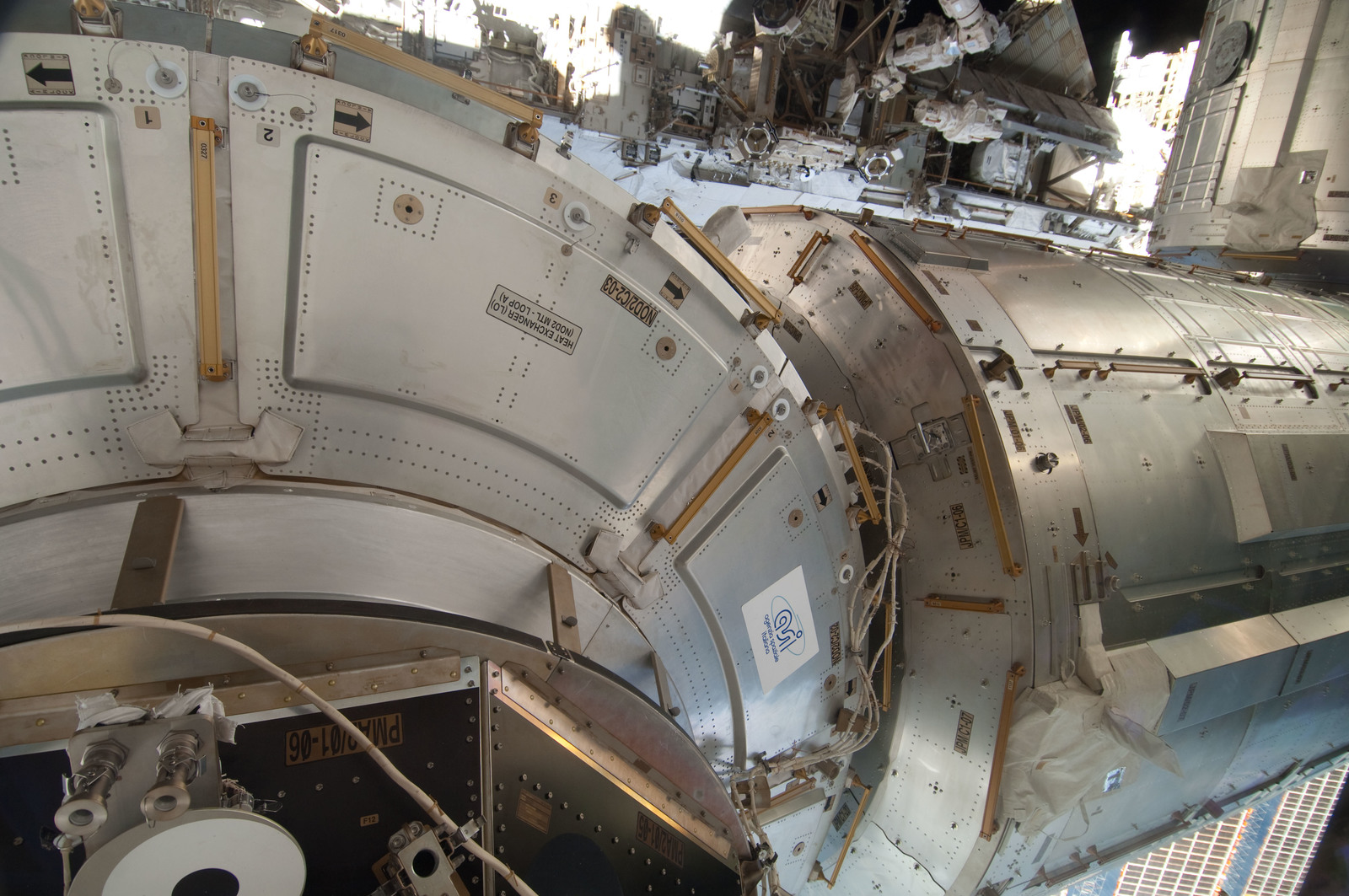 S127E006907 - STS-127 - Node 2 and JPM during EVA-1 on STS-127 / Expedition 20 Joint Operations