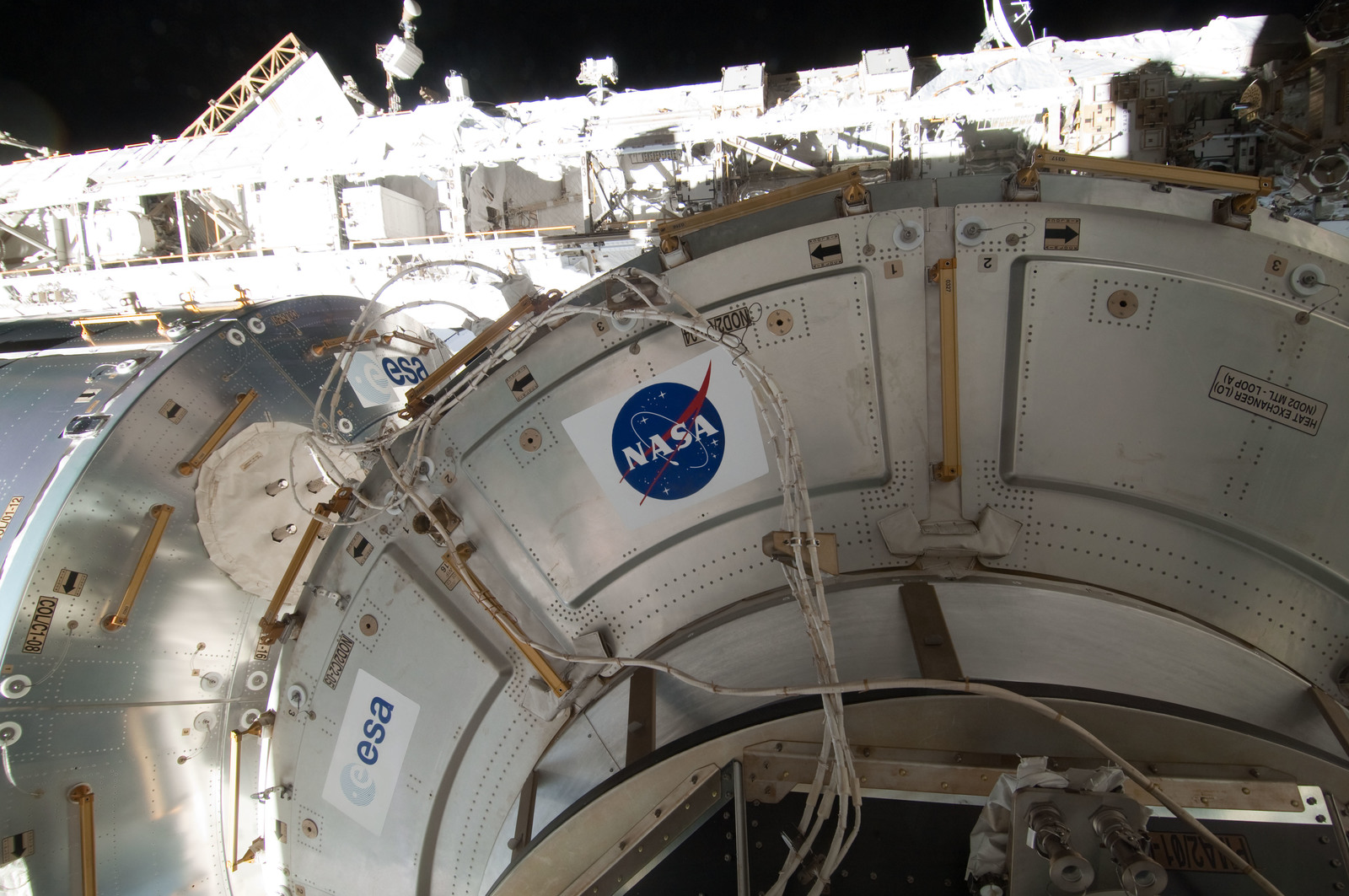 S127E006908 - STS-127 - Exterior Modules during EVA-1 on STS-127 / Expedition 20 Joint Operations