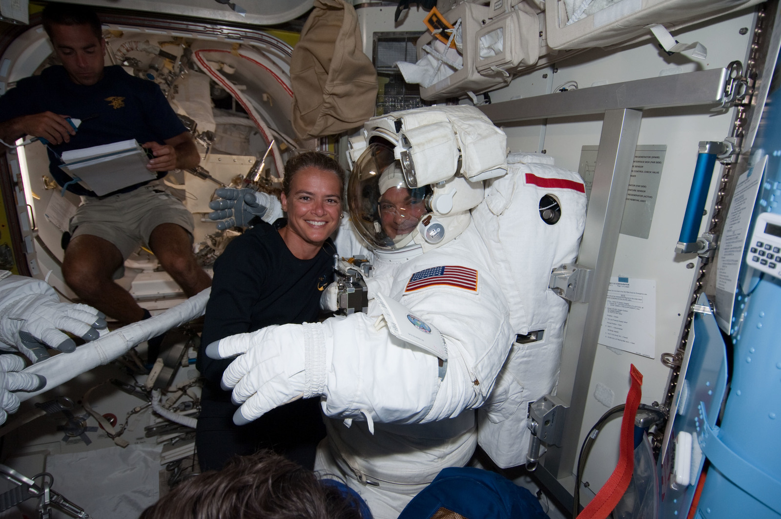 S127E007037 - STS-127 - Payette and Wolf in the A/L during STS-127 / Expedition 20 Joint Operations