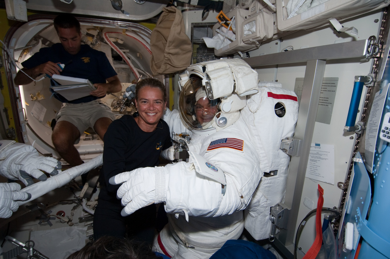 S127E007038 - STS-127 - Payette and Wolf in the A/L during STS-127 / Expedition 20 Joint Operations