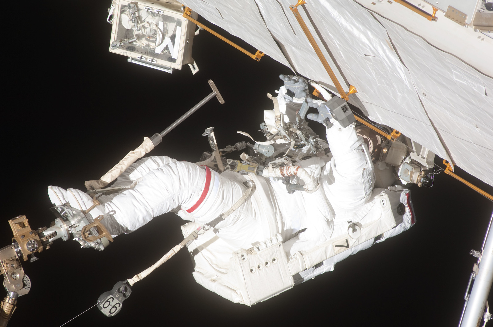 S127E007179 - STS-127 - Wolf during EVA-2 on STS-127 / Expedition 20 Joint Operations