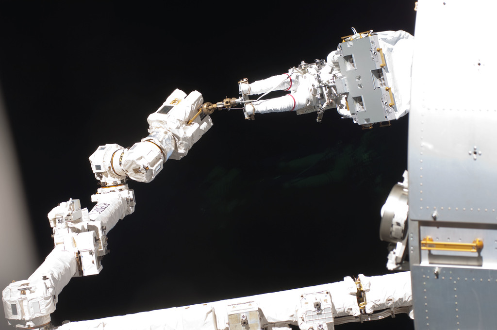 S127E007241 - STS-127 - Wolf during EVA-2 on STS-127 / Expedition 20 Joint Operations
