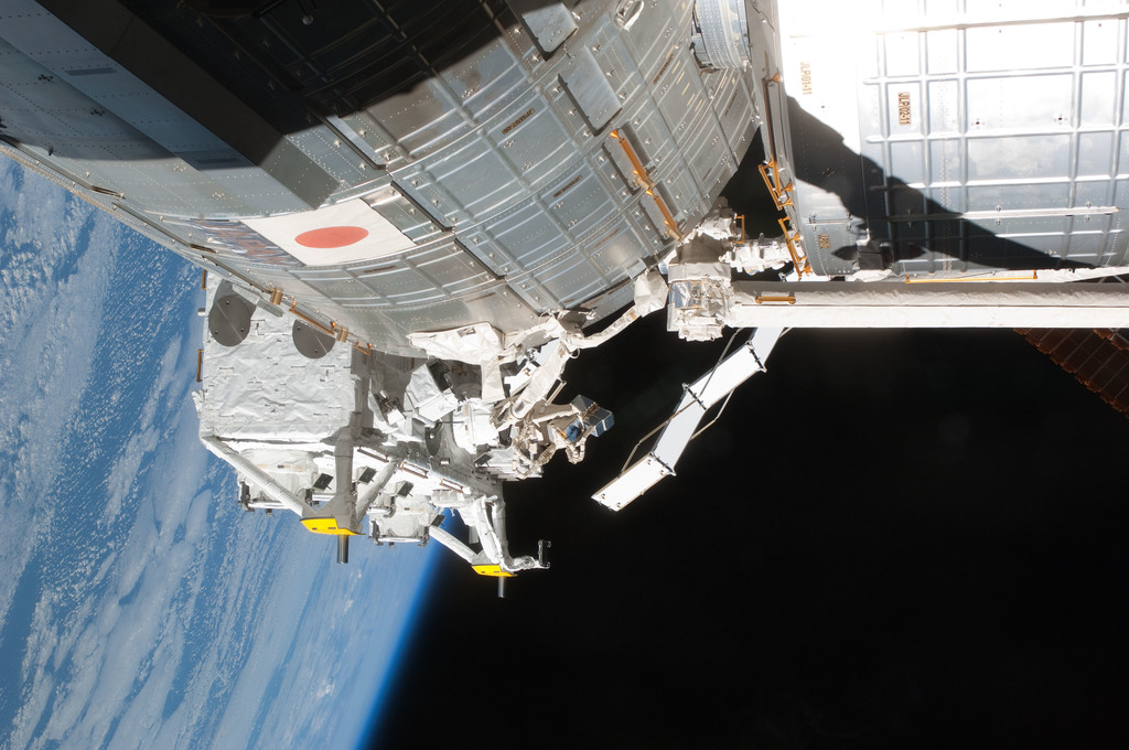 S127E007247 - STS-127 - JEM during EVA-2 on STS-127 / Expedition 20 Joint Operations