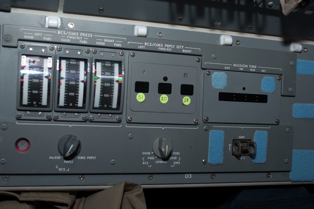 S128E010606 - STS-128 - RCS OMS Control Panel