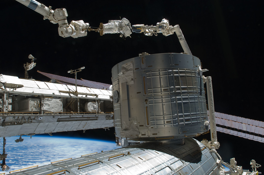 S129E006857 - STS-129 - View of STS-129 MS4 Satcher during EVA1