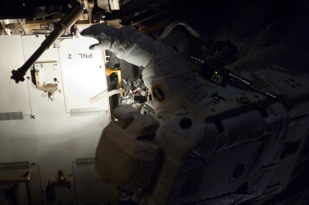 S130E007523 - STS-130 - Patrick during EVA 1