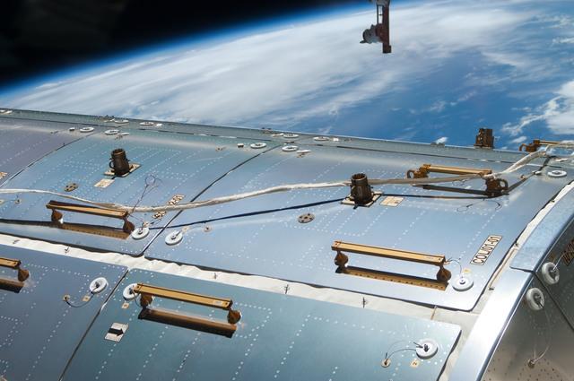 S130E010291 - STS-130 - Survey View of Columbus Exterior Panels