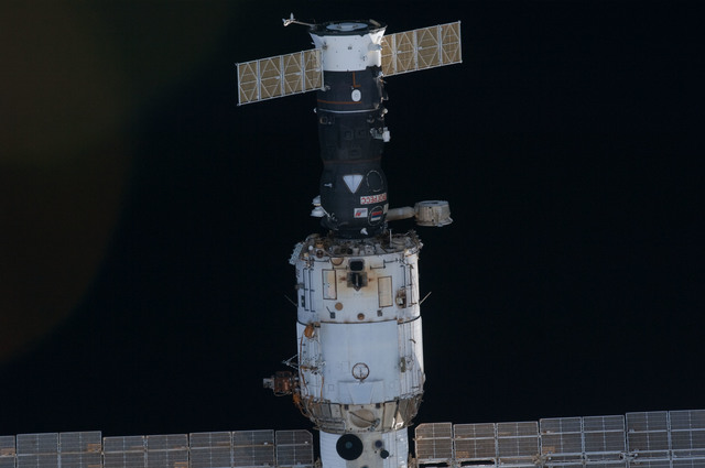 S131E007033 - STS-131 - Service Module during STS-131 Approach