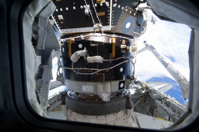 s133E006496 - STS-133 - Orbiter Docking System mated with ISS PMA2