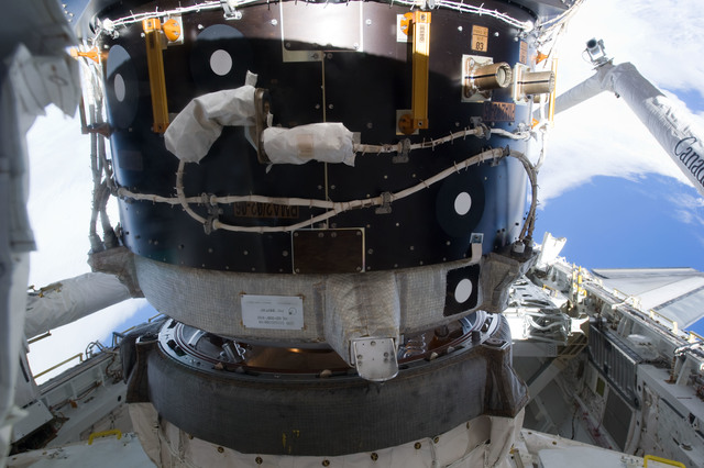 s133E006497 - STS-133 - Orbiter Docking System mated with ISS PMA2