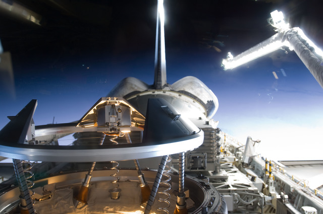 s133E006794 - STS-133 - View of ODS during approach for docking