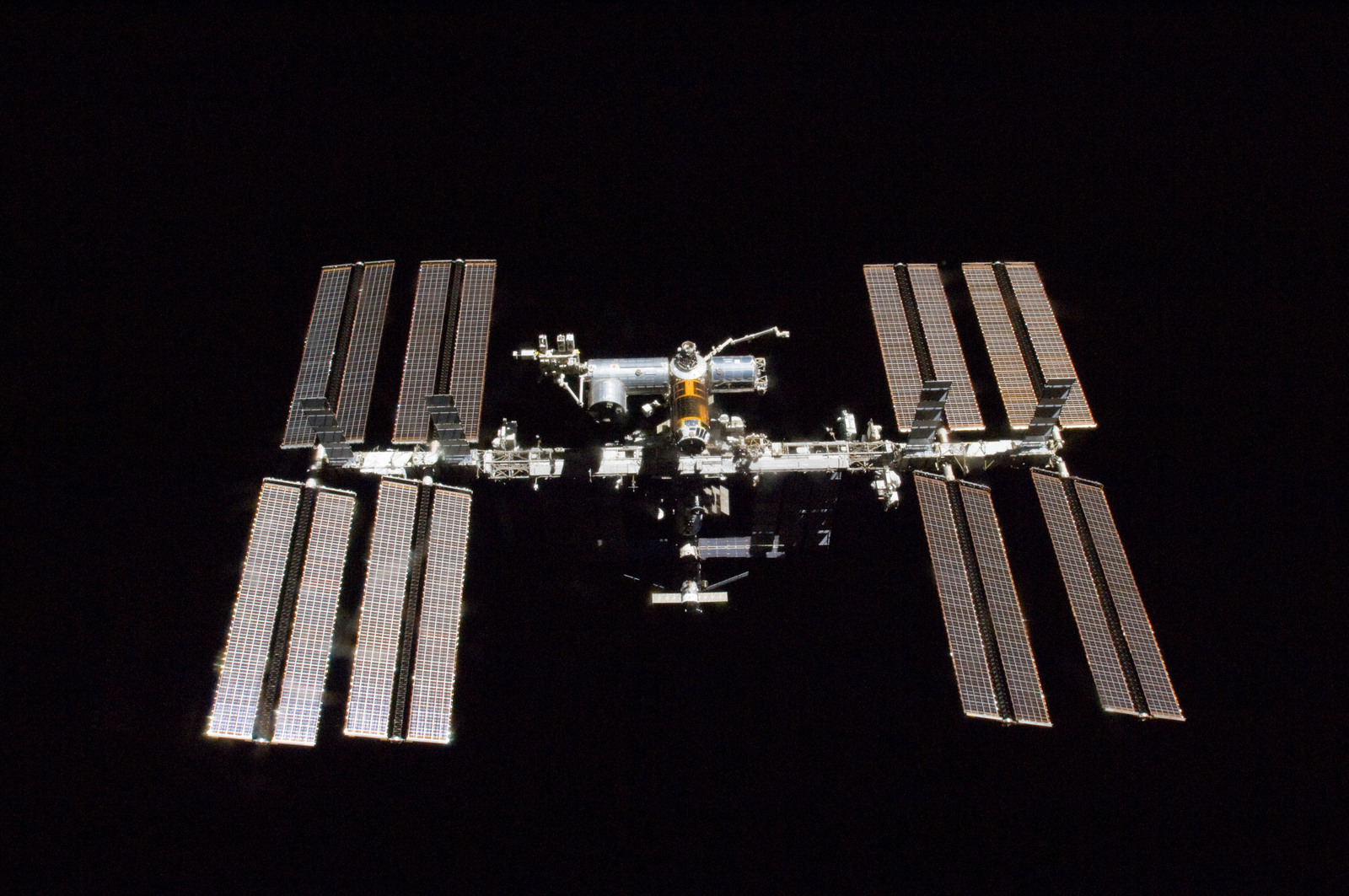 s133E010361 - STS-133 - Fly Around view of the ISS