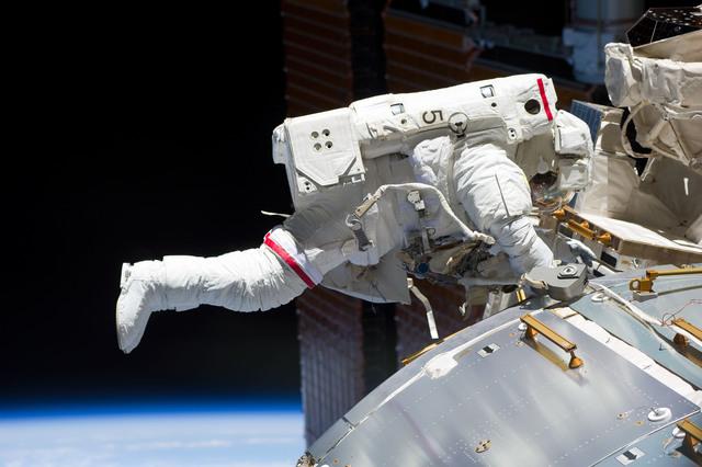 s133E013049 - STS-133 - EVA 2