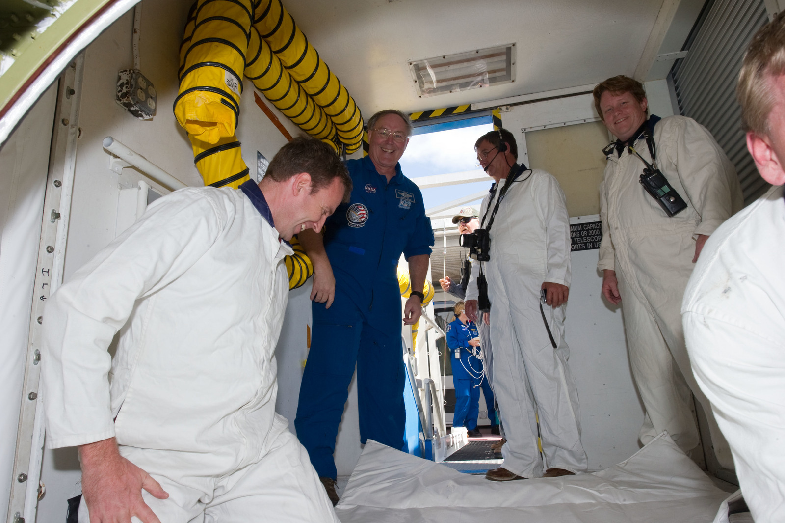 s133E013588 - STS-133 - Post landing