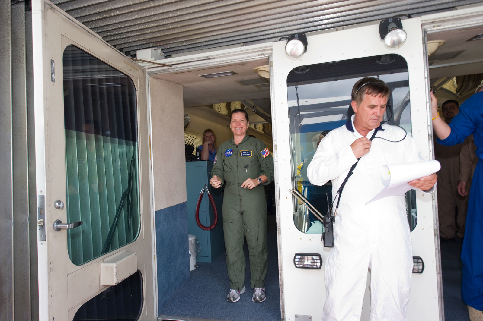 s133E013607 - STS-133 - Post landing
