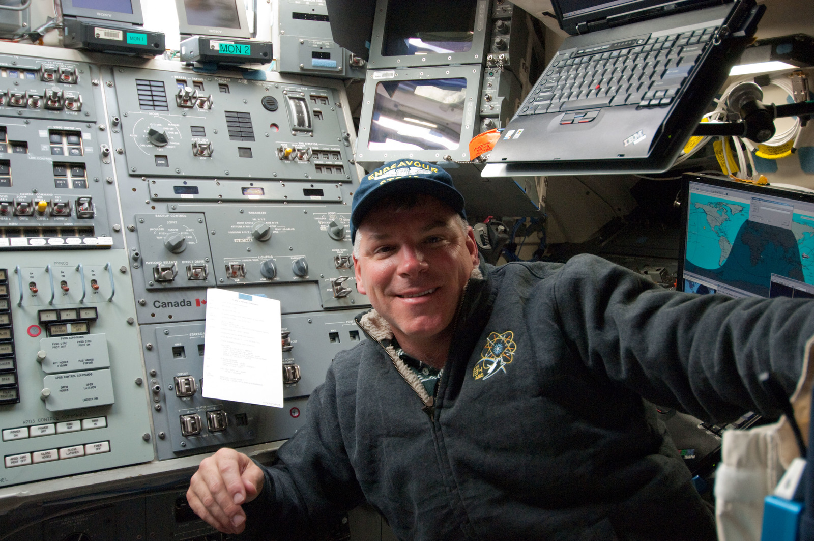 S134E005304 - STS-134 - View of STS-134 Pilot Johnson on the Flight Deck
