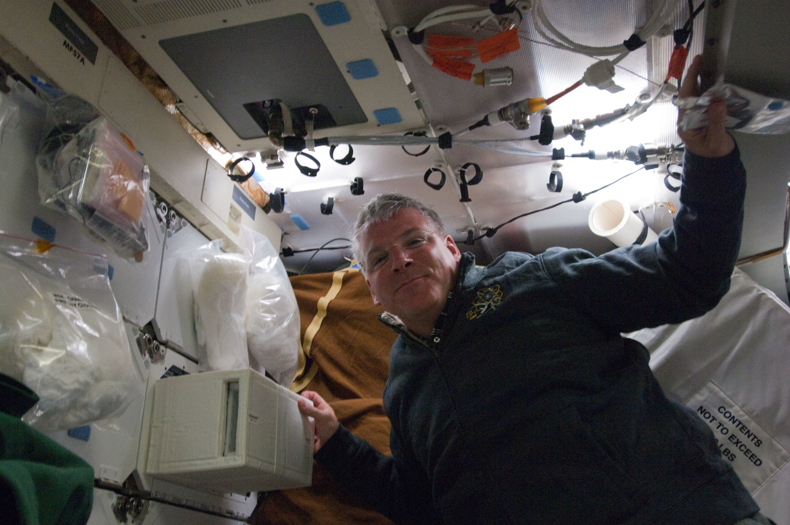 S134E005329 - STS-134 - View of STS-134 Pilot Johnson posing for a photo