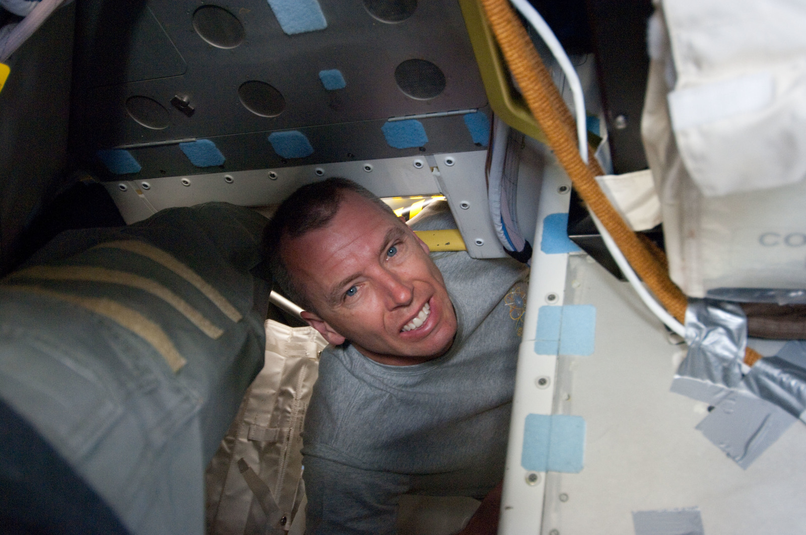 S134E005343 - STS-134 - View of STS-134 MS Feustel posing for a photo