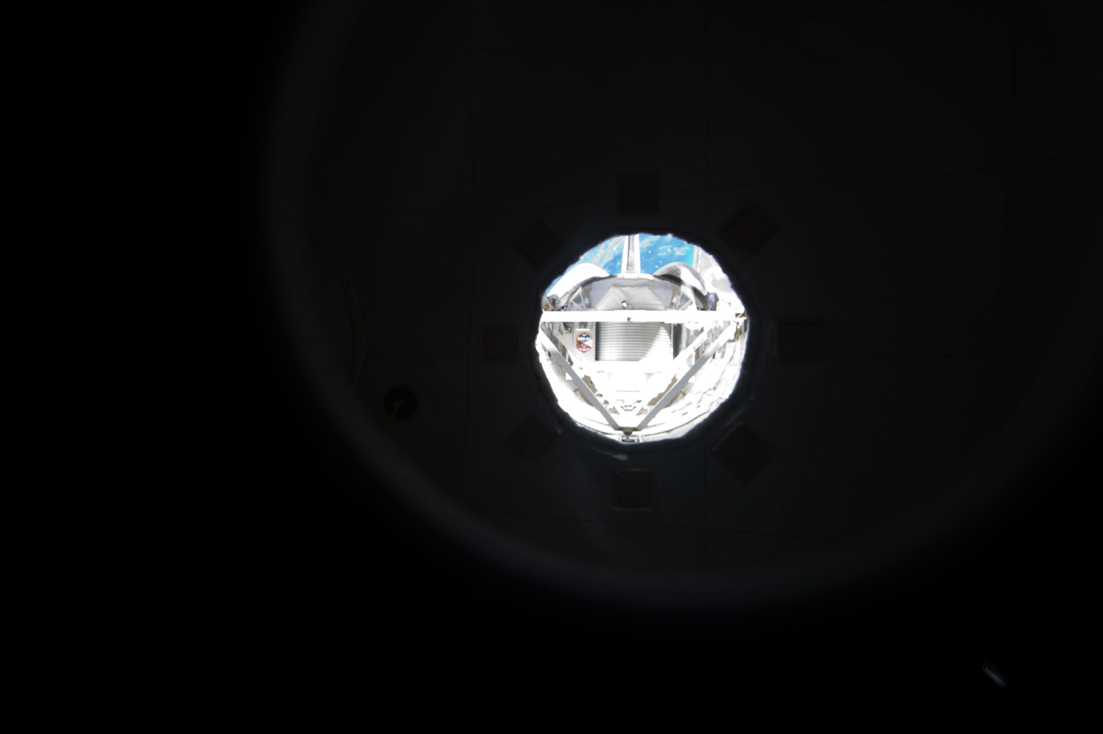 S134E007361 - STS-134 - View of AMS-2 stowed in the Endeavour Payload Bay