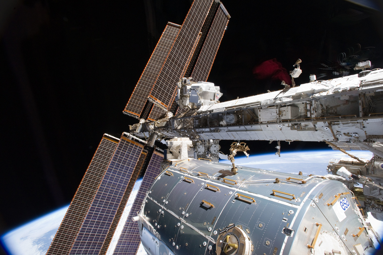 S134E007534 - STS-134 - View of the AMS-2 mounted on the S3 Truss