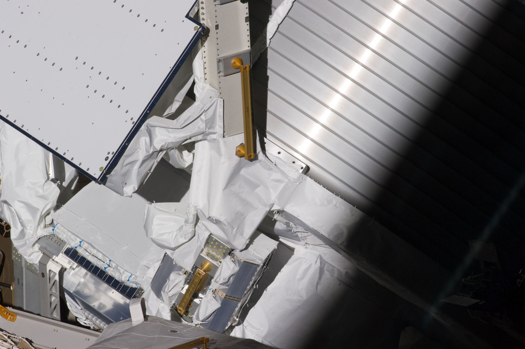 S134E007628 - STS-134 - Exterior view of ISS taken during EVA-1