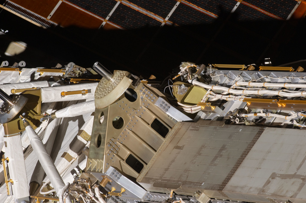 S134E007639 - STS-134 - Exterior view of ISS taken during EVA-1