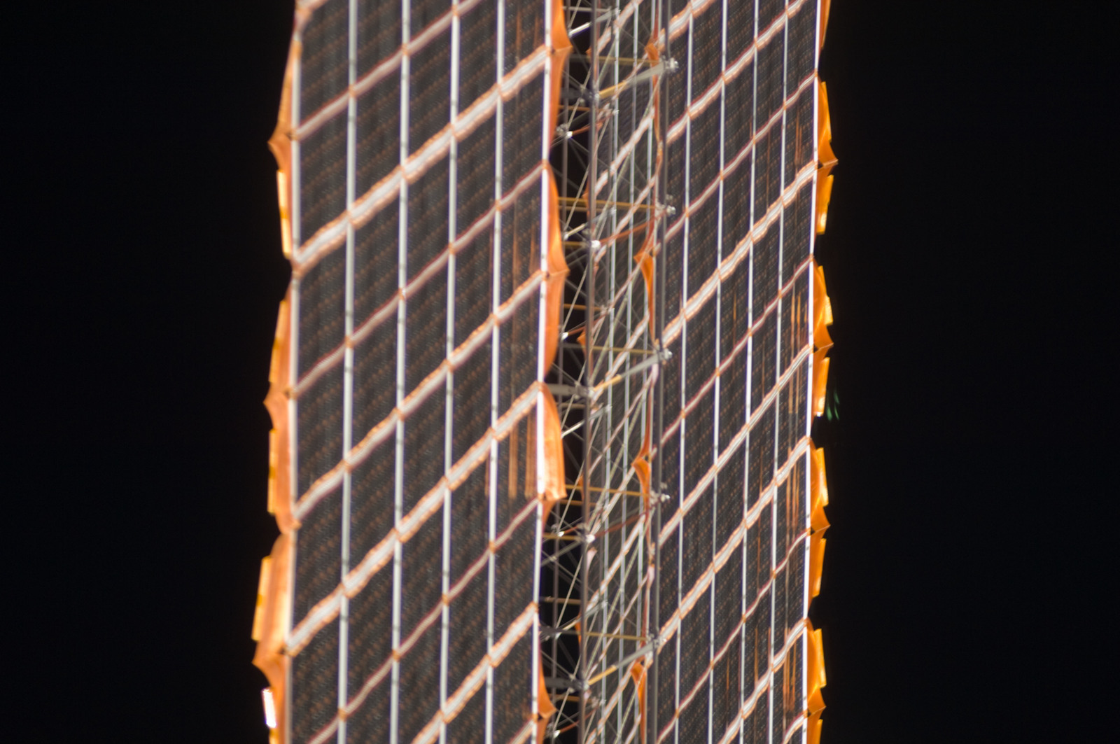 S134E009927 - STS-134 - Close-up view of Photovoltaic SAW