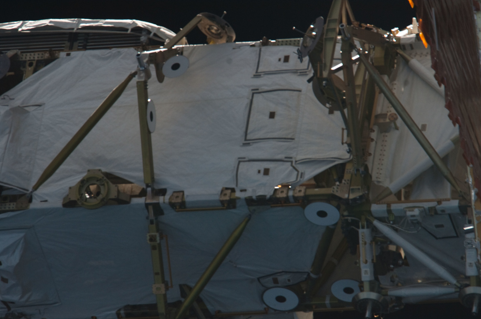 S134E011381 - STS-134 - Close-up view of Port Side Truss Segments