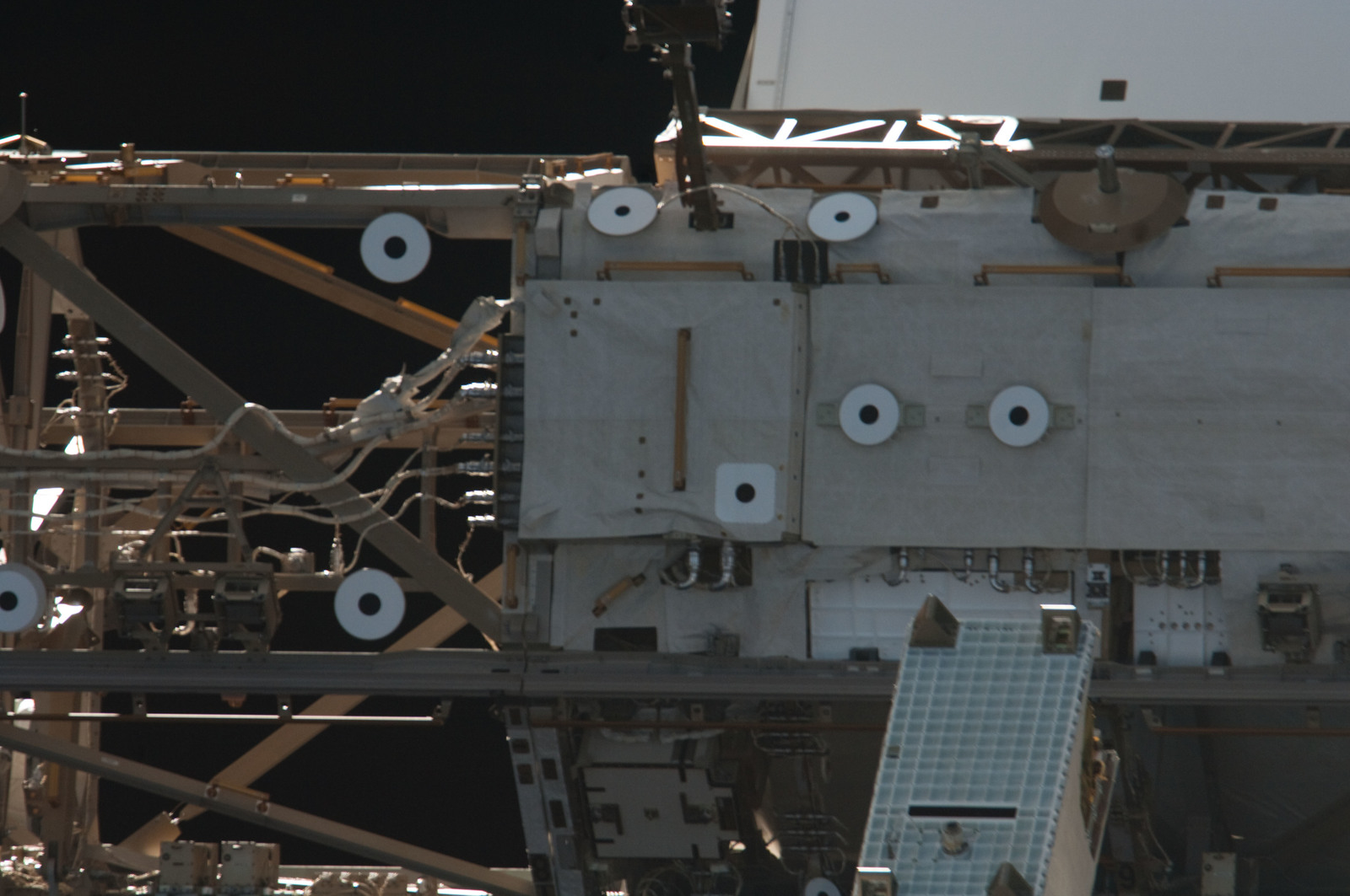 S134E011387 - STS-134 - Close-up view of Port Side Truss Segments