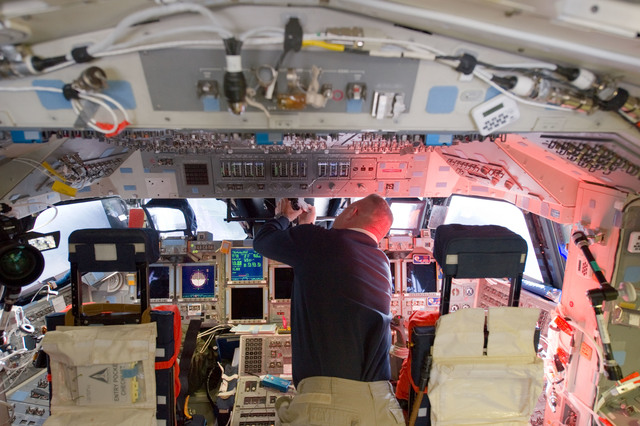 S135E006204 - STS-135 - Hurley on Flight Deck