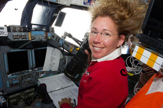 S135E006686 - STS-135 - Magnus on FWD Flight Deck