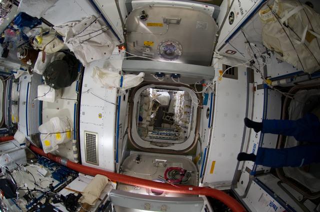 S135E009145 - STS-135 - Interior View of Node 2 and Raffaello