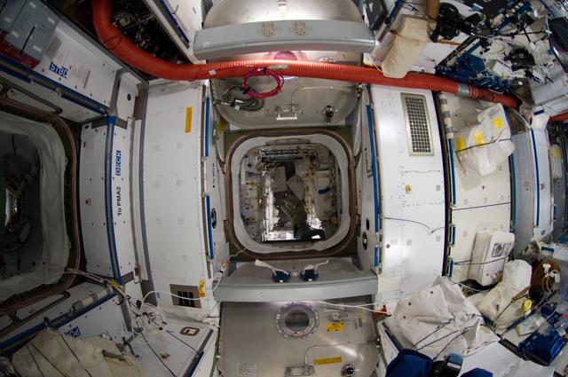 S135E009151 - STS-135 - Interior View of Node 2 and Raffaello