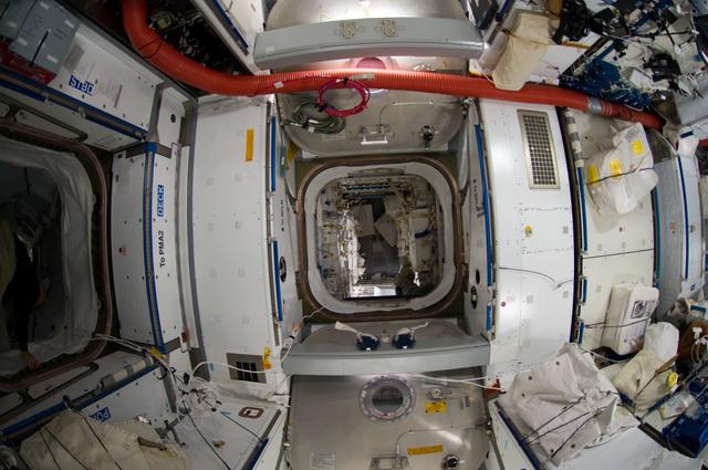 S135E009161 - STS-135 - Interior View of Node 2 and Raffaello