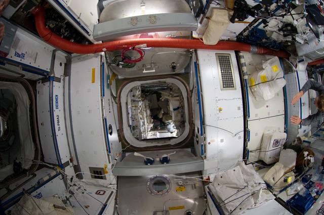 S135E009257 - STS-135 - Interior View of Node 2 and Raffaello