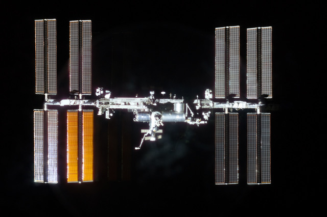 S135E011767 - STS-135 - Flyaround View of ISS after STS-135 Undocking