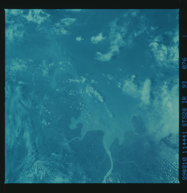 S28-93-076 - STS-028 - Infrared Earth observations taken the STS-28 mission