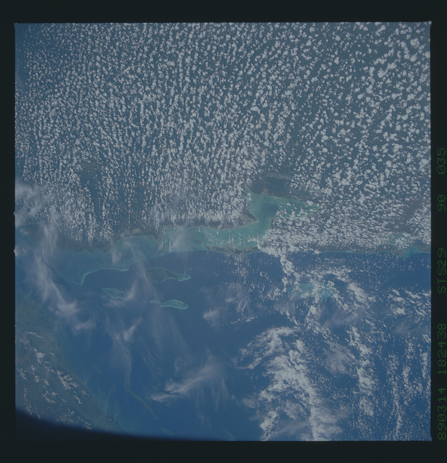 S29-90-035 - STS-029 - STS-29 earth observations