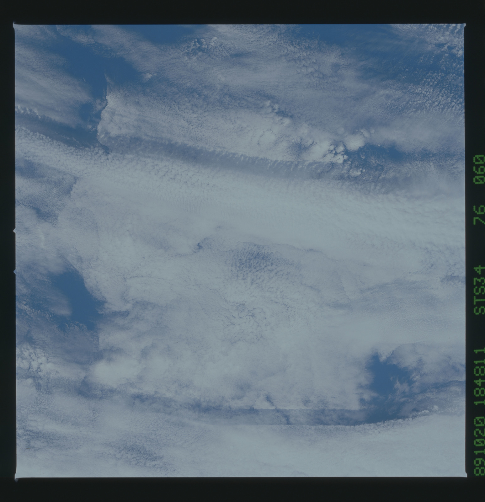 S34-76-060 - STS-034 - STS-34 earth observations