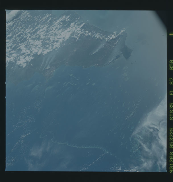 S35-X-013 - STS-035 - ET SEP on STS-35 mission